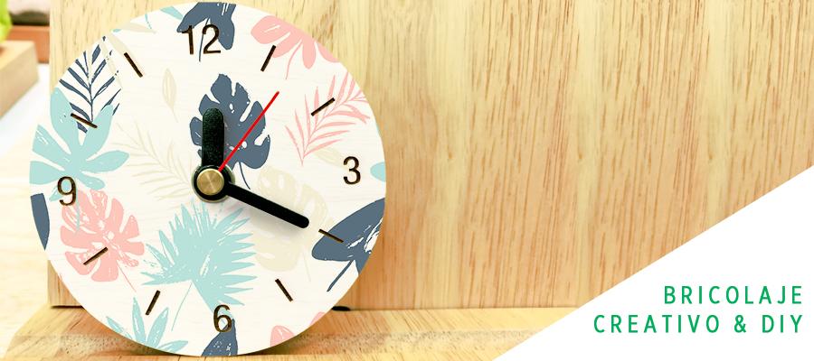 Personaliza un reloj de madera