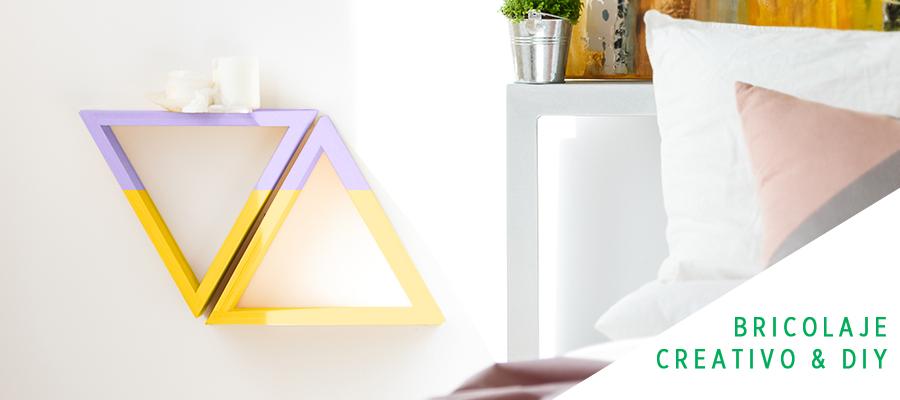 Diseña tu propia estantería geométrica