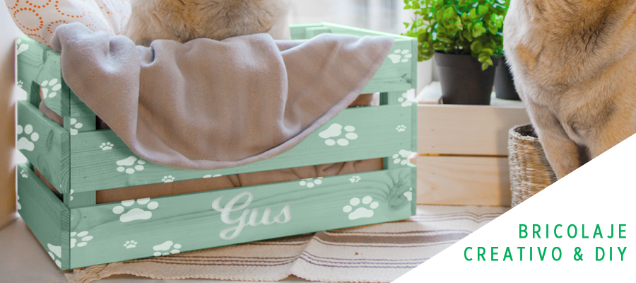 Una cama de madera para tu mascota