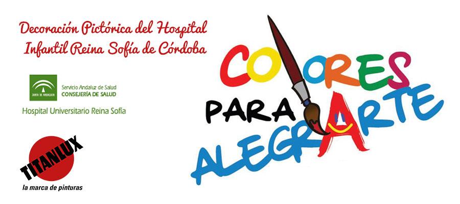 """TITANLUX aporta pintura en el proyecto """"Colores para alegrarte"""", para decorar las paredes de pediatría del Hospital Reina Sofía"""
