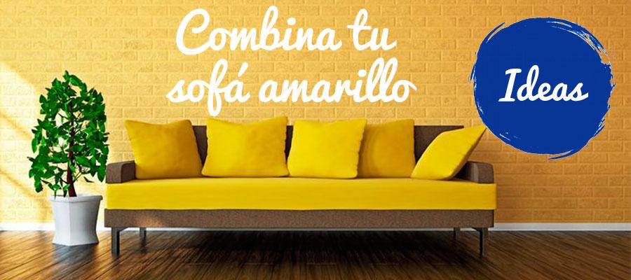 El sofá amarillo, el centro de atención