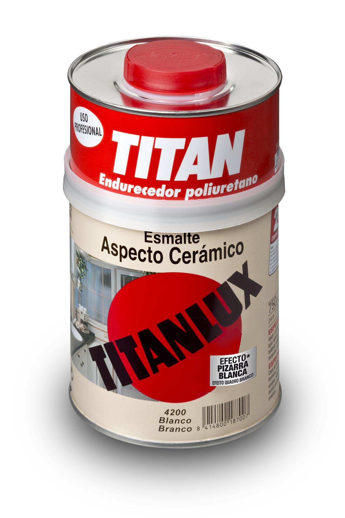 ESMALTE TITANLUX ASPECTO CERÁMICO.