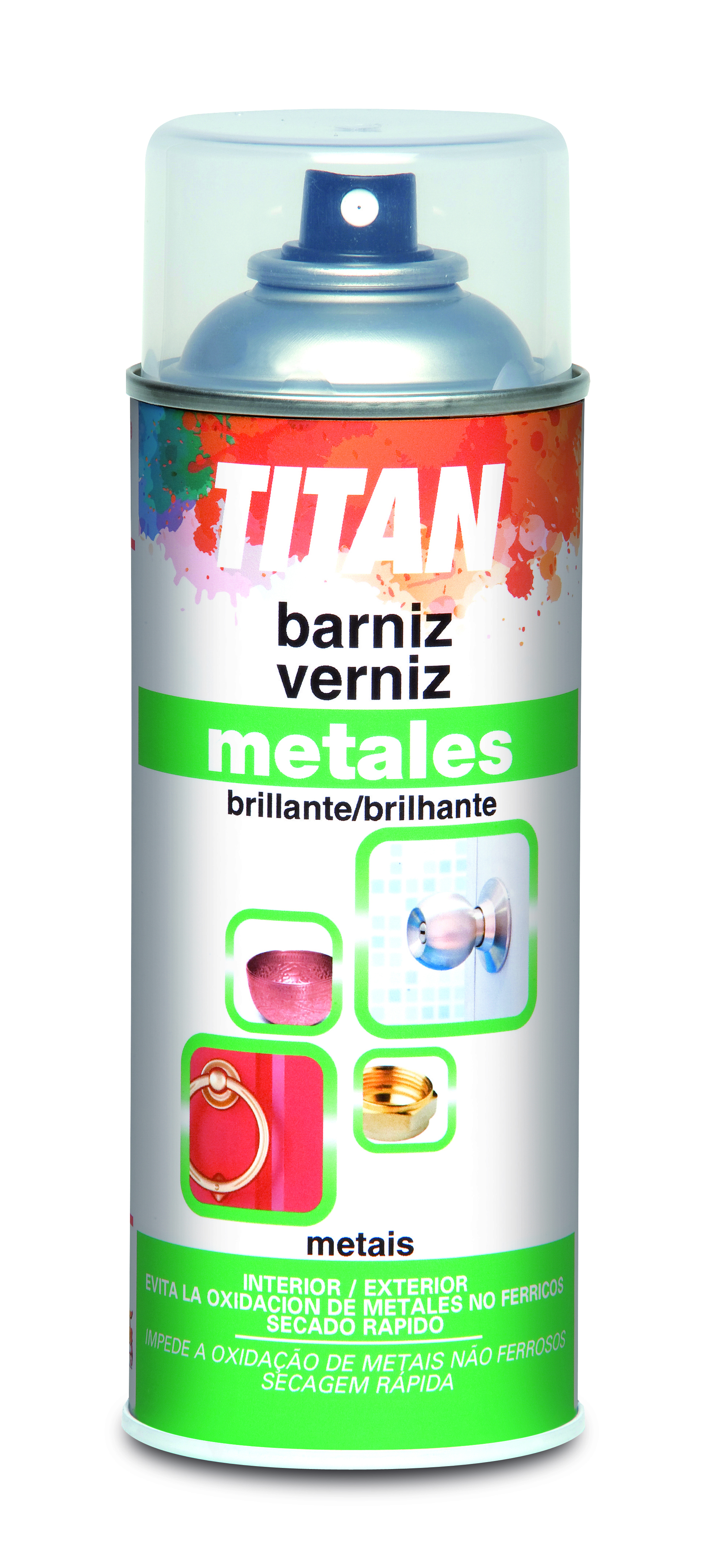 SPRAY VERNIZ TRANSPARENTE METAIS